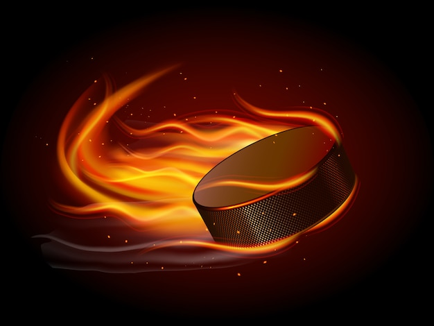 Puck in fire