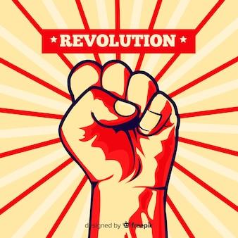 Pugno alzato per la rivoluzione