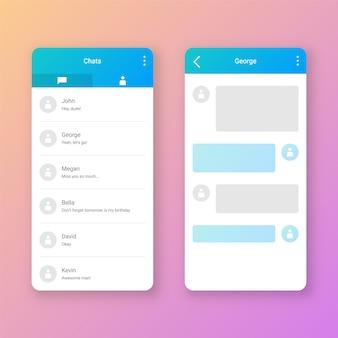 Pulire l'interfaccia utente della chat mobile
