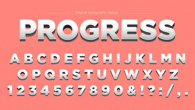 Pulire tipografia smussata audace
