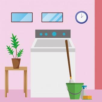 Pulizia della casa lavanderia