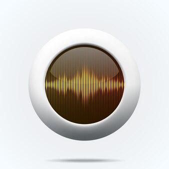 Pulsante con onde sonore