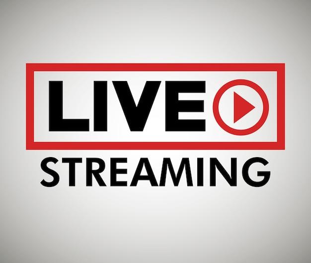 Pulsante icona live streaming