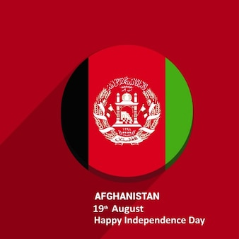 Pulsante ombra sfondo afghanistan flag