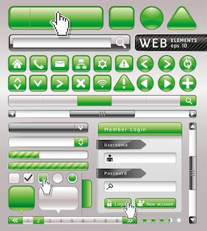 Pulsanti vuoti per sito web e app.