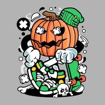 Pumpkins skater cartoon