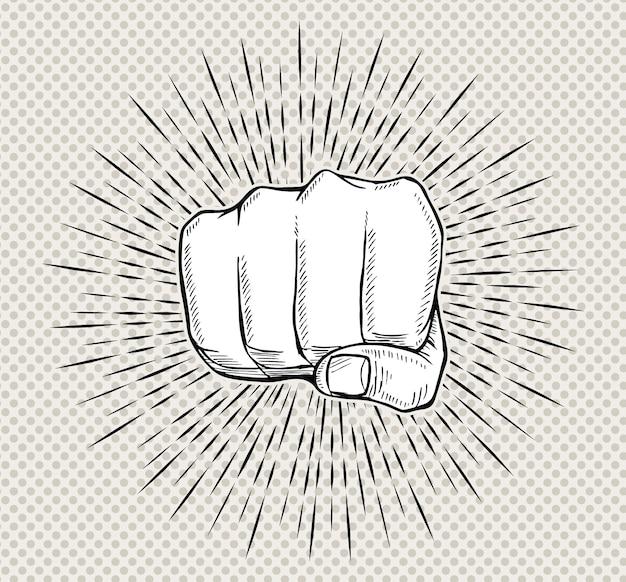 Punch a mano con sprazzi di sole in stile vintage