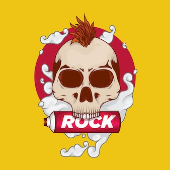 Punk rock skull con spray