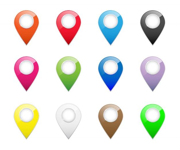 Puntatore di posizione mappa rossa 3d.