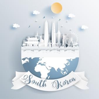 Punti di riferimento della corea del sud sulla terra