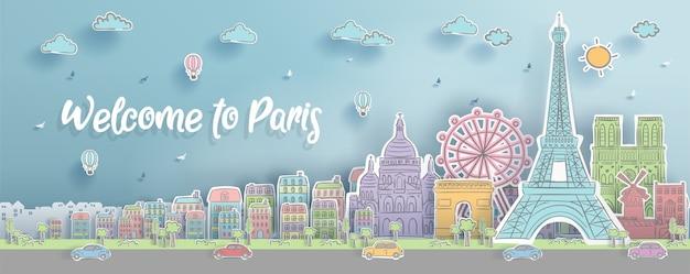 Punti di riferimento di parigi, francia.