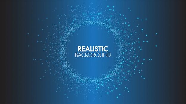 Punti e linee di collegamento di comunicazione astratta di concetto del fondo di tecnologia futuristici