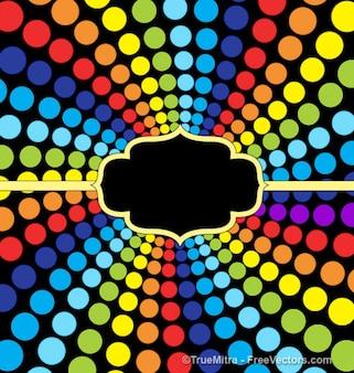Puntini multicolore in forma di arcobaleno
