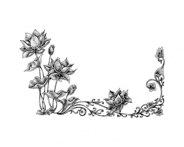 Puntinismo lotus floral