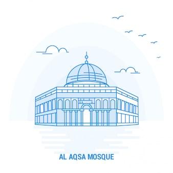 Punto di riferimento blu della moschea al aqsa