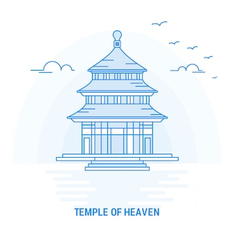 Punto di riferimento blu di tempio del cielo