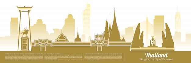 Punto di riferimento della città della tailandia