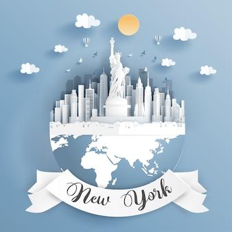 Punto di riferimento di new york city
