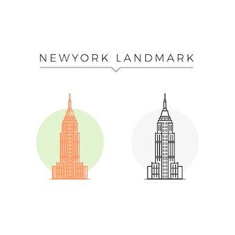 Punto di riferimento di new york