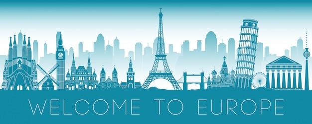 Punto di riferimento famoso in europa