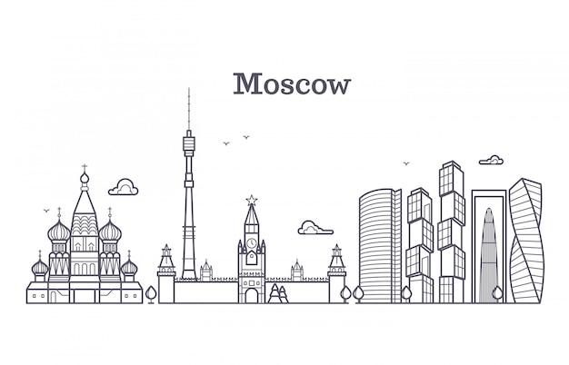 Punto di riferimento lineare di mosca russia