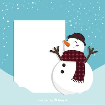 Pupazzo di neve sorridente del fondo di natale