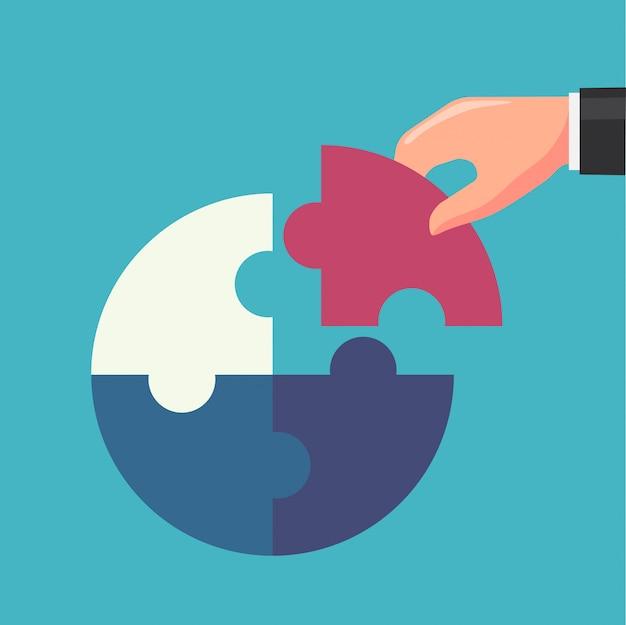 Puzzle dell'affare dell'illustrazione di successo