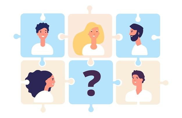 Puzzle della squadra di affari