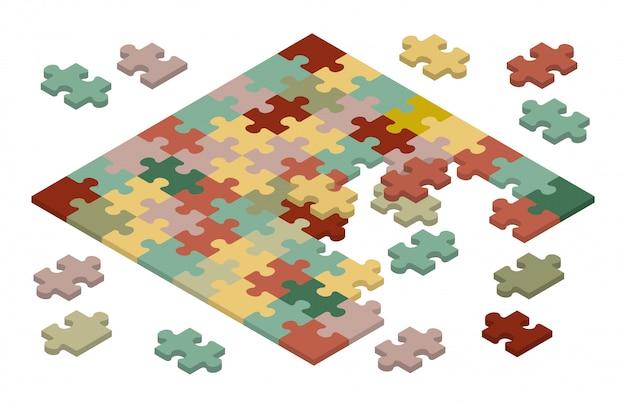 Puzzle isometrico