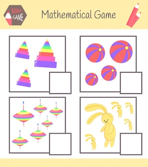 Quaderno di lavoro sulla matematica per l'educazione prescolare. puzzle per bambini. impara a contare. risolvi esempi