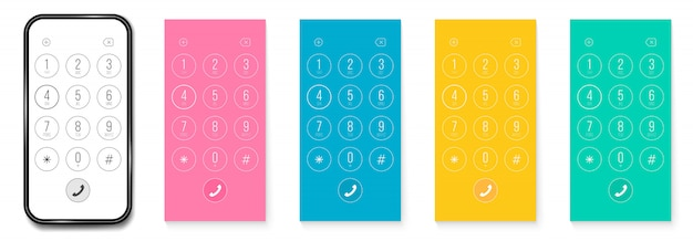 Quadrante del telefono, numeri di smartphone della tastiera smartphone.