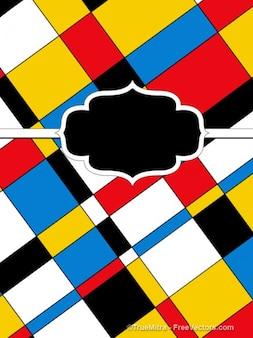 Quadrati colorati bandiera astratto