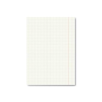Quadrato realistico o foglio di carta millimetrata con margini
