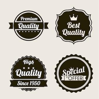 Qualità premium su sfondo beige illustrazione vettoriale