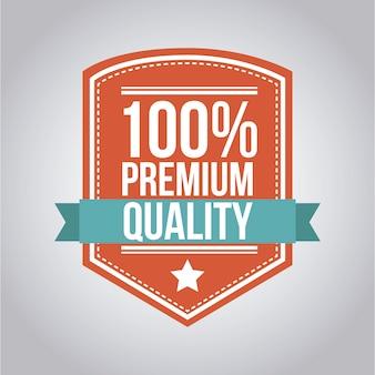 Qualità premium su sfondo grigio illustrazione vettoriale