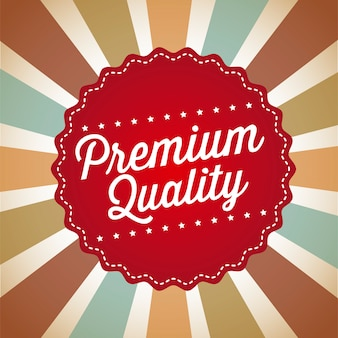 Qualità premium su sfondo vintage illustrazione vettoriale