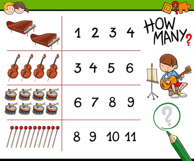 Quanti strumenti musicali contano il gioco