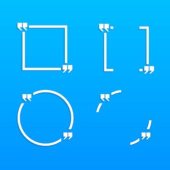 Quattro aree bianche per il testo in blu