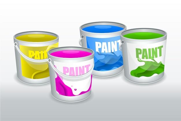 Quattro barattoli di vernice