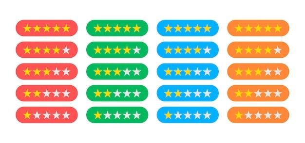 Quattro colonne di diversi colori con diversi indicatori di valutazione sono rappresentate su bianco.