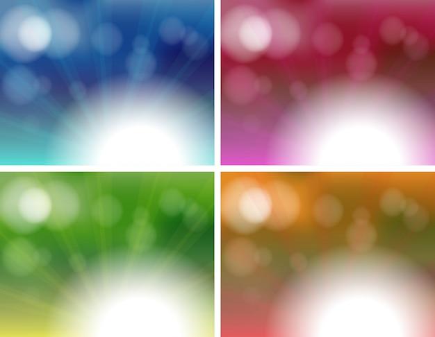 Quattro modelli di sfondo unico