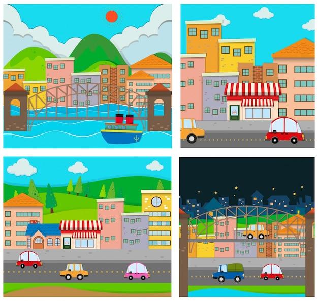 Quattro scene della città
