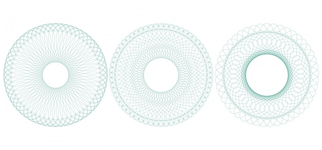 Rabescatura circolare, illustrazione. rosetta dalle linee sottili.
