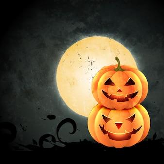 Raccapricciante disegno zucca di halloween