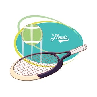 Racchetta e palla per giocare a tennis