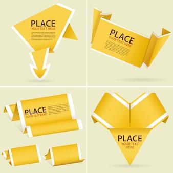 Raccogli la carta origami banner