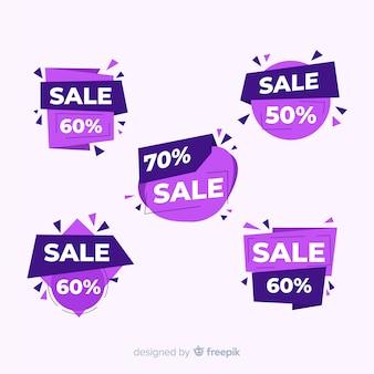 Raccolta astratta dei modelli dell'insegna di vendite