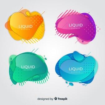 Raccolta astratta dell'insegna liquida