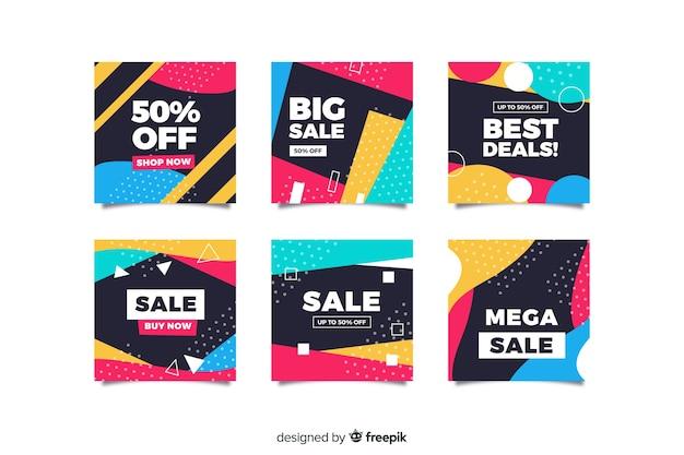 Raccolta astratta della posta del instagram di vendita