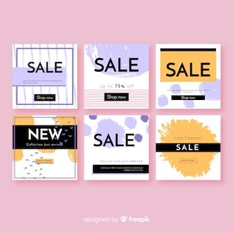 Raccolta astratta della posta di vendita del instagram